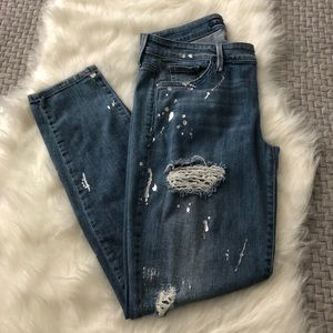 Guess Light Wash Skinny Distressed Jeans Size 29